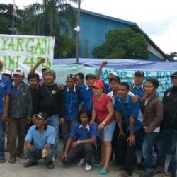 Empat Bulan Tidak Digaji, Karyawan PT Surya Besindo Sakti Mogok Kerja