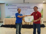 Pers Gathering BPJS TK, Wartawan di Guyur Door Prize