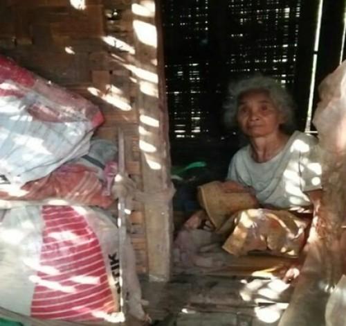 Tinggal di Gubug Reot, Singkong Mentah Makanan Sehari-hari Nenek Muklikah