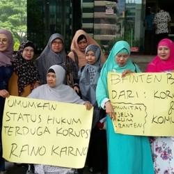 Datangi KPK, Ibu-Ibu Majelis Taklim Desak Umumkan Cagub Banten Terindikasi Korupsi