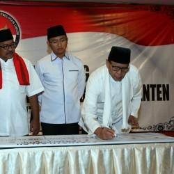 Deklarasi Anti Politik Uang Paslon Cagub dan Cawagub Banten