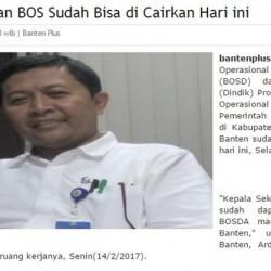 BOSDA dan BOS Tak Kunjung Cair, Dindikbud Banten Bohongi Publik