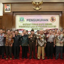 SatgasTim Saber Pungli Banten Resmi DikukuhkanPjGubernur