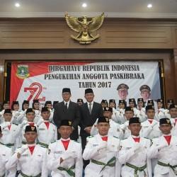 Gubernur   Kukuhkan 54 Anggota Paskibra Banten