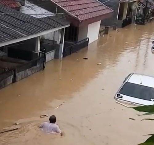 Ini Titik Banjir yang Melanda Kota Cilegon