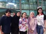 Raih Medali Skate Asia 2018 Thailand, Puteri Indonesia Sambut Regita Gagarin