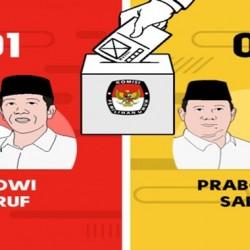 Jokowi-Maruf Nomor Urut 1, Prabowo-Sandi Nomor Urut 2