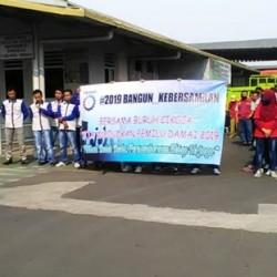 Ratusan Buruh Cikoja Deklarasi Pemilu Damai 2019