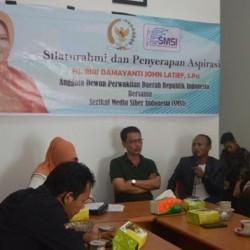 Serap Aspirasi UU Pemilu, Anggota DPD RI Kunjungi SMSI Bengkulu