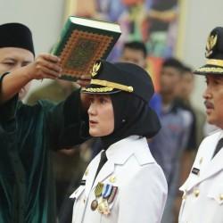 Bupati dan Wakil Bupati Lebak Dilantik Gubernur Banten