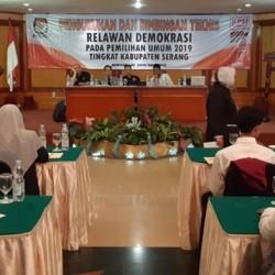 KPU Kabupaten Serang Target Satu Relawan Demokrasi 1000 Pemilih