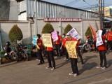 Diduga Gelapkan Dana BAT, Puluhan Karyawan Demo Kantor Alfamart Serang