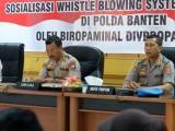 Kunjungi Polda Banten, Divpropam Polri Sosialisasikan WBS Online