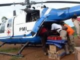 Pakai Hagglunds dan Helikopter, PMI Distribusikan Bantuan hingga Pelosok