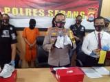Polres Serang Ringkus Dua Pelaku Penggelapan Ribuan Sepatu Ekspor