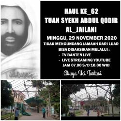 Haul ke 62 Syech Abdul Qodir Al Jaelani Disiarkan live