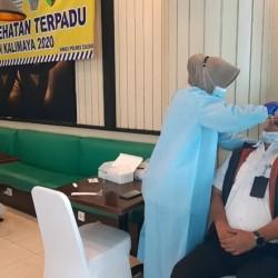 Polda Banten Rapid Test Ab dan Antigen Bagi Penumpang Kapal di Dermaga Merak