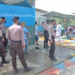 Personil Polres Serang Patroli Tempat Wisata Kolam Renang