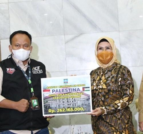 Pemkab Serang Salurkan Donasi Palestina Rp 537,16 Juta