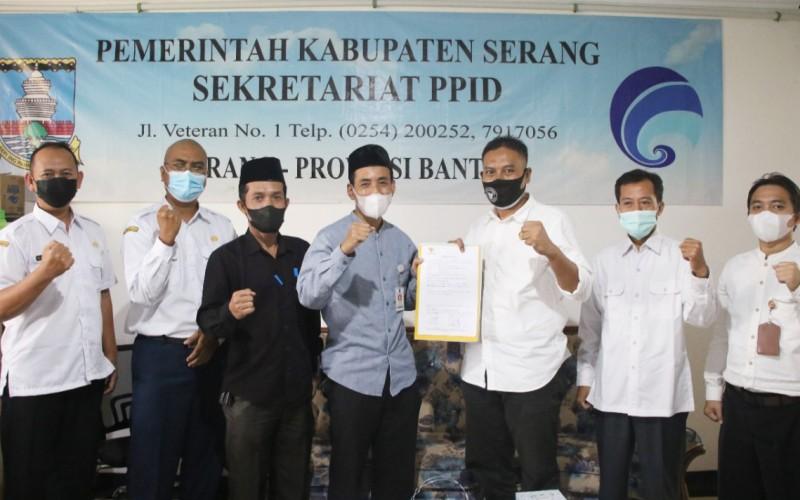 Penilaian KI Banten Kabupaten Serang Berpotensi Paling Informatif
